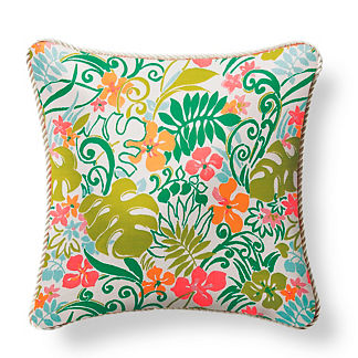 Sunlit Leaves Citrus Outdoor Pillow