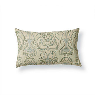 Ikat Beaded Decorative Pillow