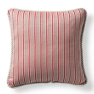 Cayden Stripe Rouge Outdoor Pillow