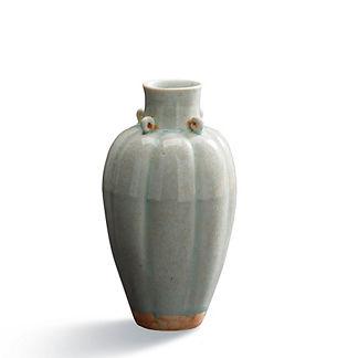 Celadon Fluted Vase