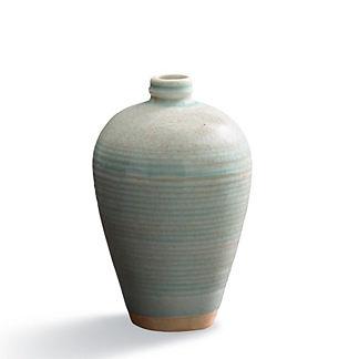 Celadon Ribbed Vase