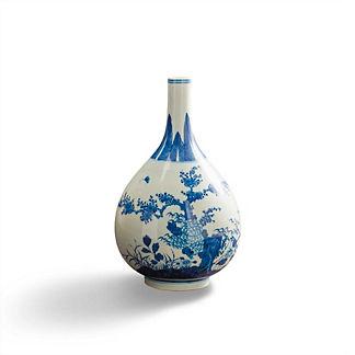 Narrow Mouth Chinoiserie Vase
