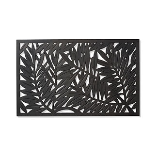 Palm Leaf Rubber Entry Mat