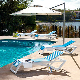 Pacific Stacking Chaise, Set of Two