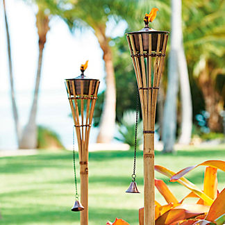 Margaritaville Set of Two Bamboo Torches