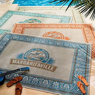 Margaritaville Logo Outdoor Rug