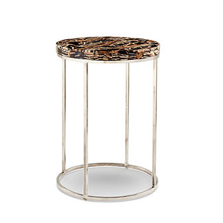 Petrified Wood Round Side Table by Porta Forma