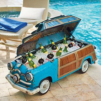 Vintage Woody Cooler