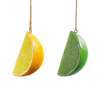 Margaritaville Set of Eight Lemon and Lime Umbrella Ornaments