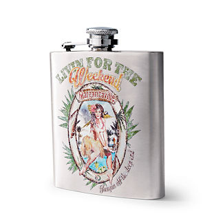 Margaritaville Livin' for the Weekend 6-oz. Stainless Steel Flask