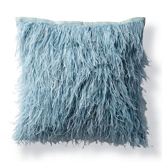 Ostrich Feather Decorative Pillow