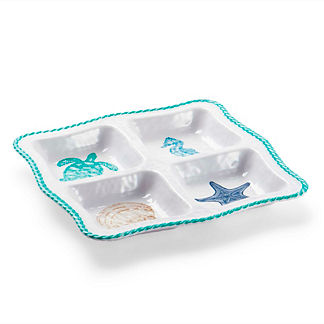 Marina Four Section Serving Tray
