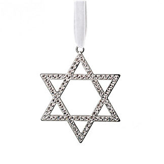 Crystal Star of David Ornaments, Set of Three