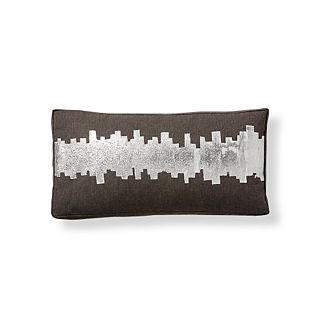 Shifting Bars Outdoor Lumbar Pillow by Porta Forma