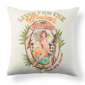 Margaritaville Livin' for the Weekend Throw Pillow
