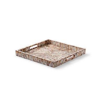 Shell Starburst Square Tray by Porta Forma