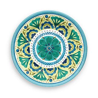 Chelsea Medallion Dinner Plates, Set of Four