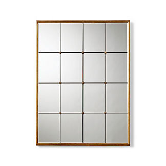 Gold Framed Paneled Mirror