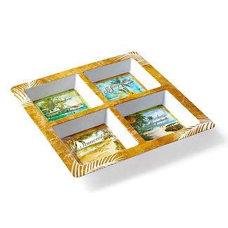 Margaritaville St. Somewhere Four Section Serving Tray
