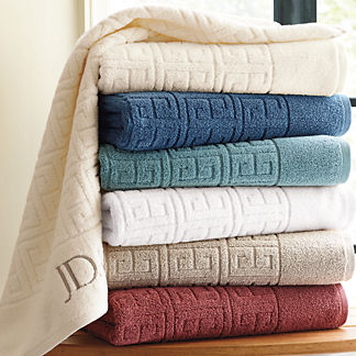 Rhodes Greek Key Bath Towel