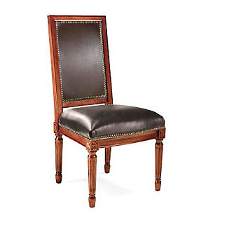 Langston Square Back Side Chair in Walnut Finish