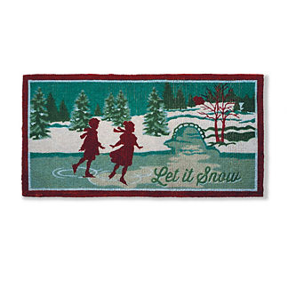 Let It Snow Holiday Entry Mat