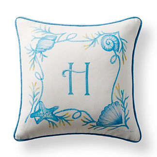 Coral Reef Monogrammed Outdoor Pillow