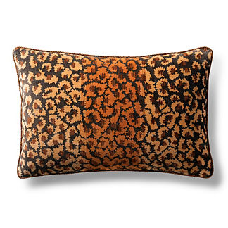 Rock Leopard Decorative Pillow
