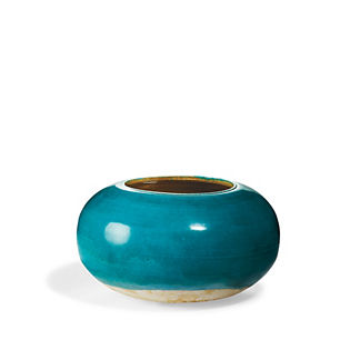 Turquoise Low Pot