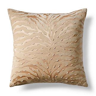 Beaded Tiger Decorative Pillow