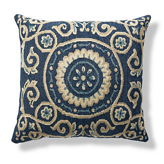 Coastal Aubusson Decorative Pillow