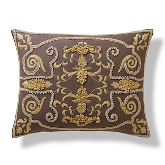 Embroidered European Lumbar Pillow