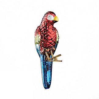 Glass Parrot Ornament Set of 6