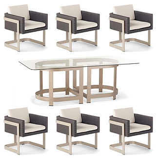 Mercer 7-pc. Rectangular Dining Set by Porta Forma