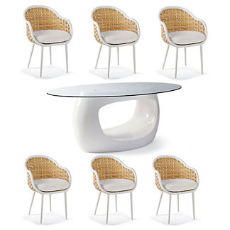 Ravello 7-pc. Oval Dining Set by Porta Forma