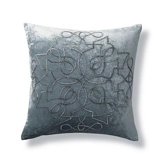 Rousseau Decorative Beaded Throw Pillow