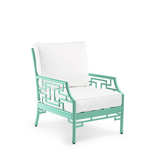 Ibis Isle Lounge Chair with Cushions in Mint Finish