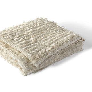 Metallic Frayed Throw