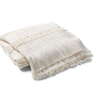 Sequin Stripe Throw