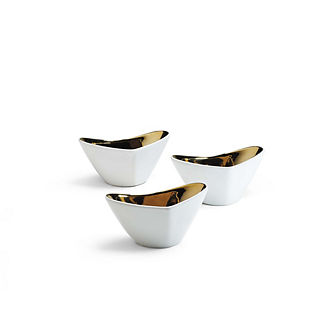 Donatella Ceramic Snack Bowls, Set of Three