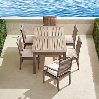 Cassara 7-pc. Rectangular Dining Set in Weathered Finish