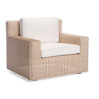 Hyde Park Lounge Chair with Cushions in Ivory Finish