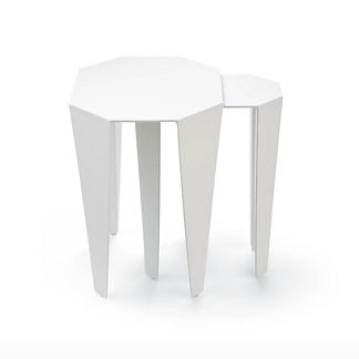 Geometric Set of Two Nesting Tables by Porta Forma