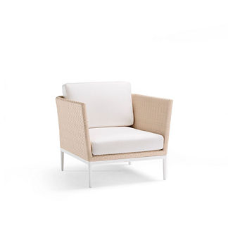 Palazzo Shell Lounge Chair with Cushions by Porta Forma
