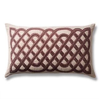Velvet Lattice Decorative Lumbar Pillow