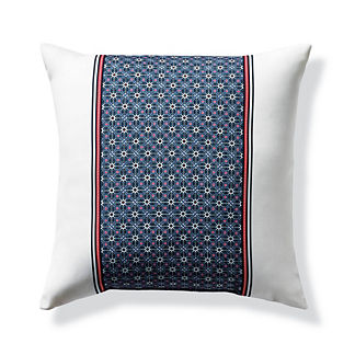 Medallion Tile Blue Outdoor Pillow