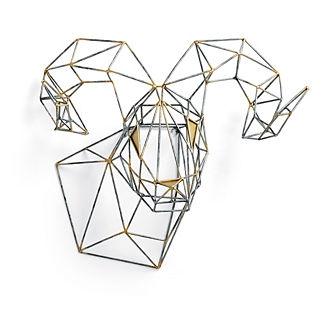 Geometric Ram Wall Decor by Porta Forma