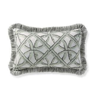 Boca Rattan Mint Outdoor Lumbar Pillow