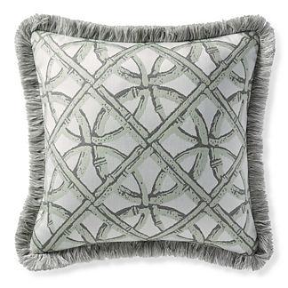 Boca Rattan Mint Outdoor Throw Pillow