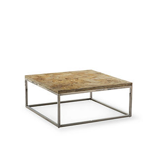 Blonde Petrified Wood Coffee Table by Porta Forma